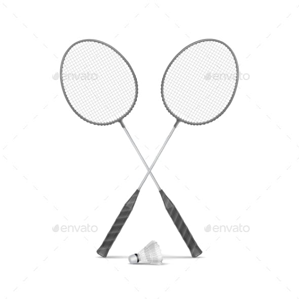 Badminton Rackets with Shuttlecock