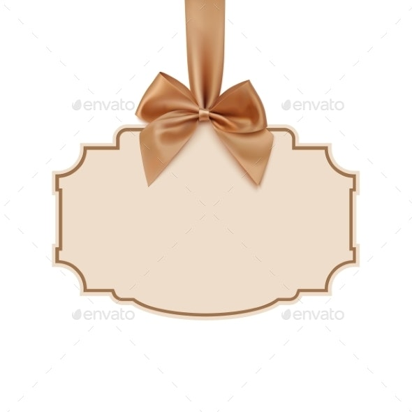 Blank Banner with Golden Ribbon - Backgrounds Decorative
