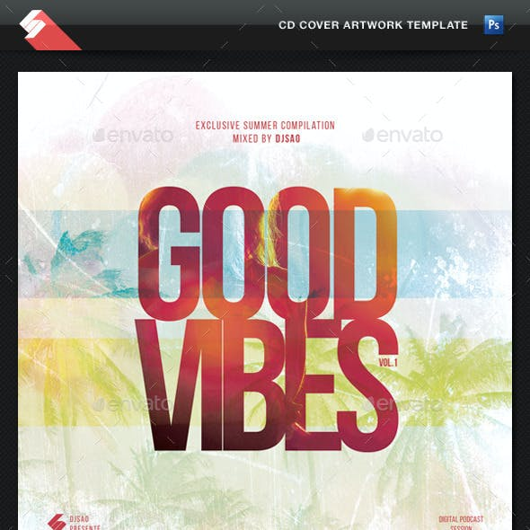 Good Vibes Vol.1 - CD Cover Artwork Template