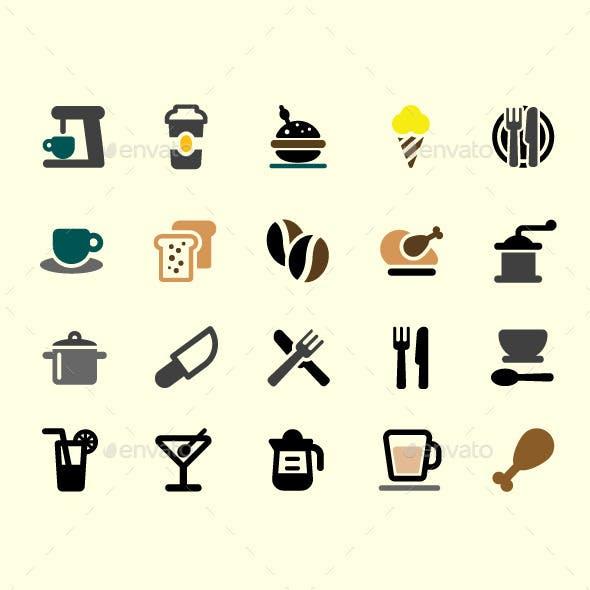 20 Restaurant Vector Icons