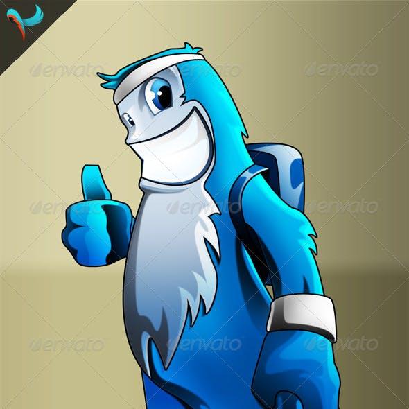 Sport Yeti PSD Mascot
