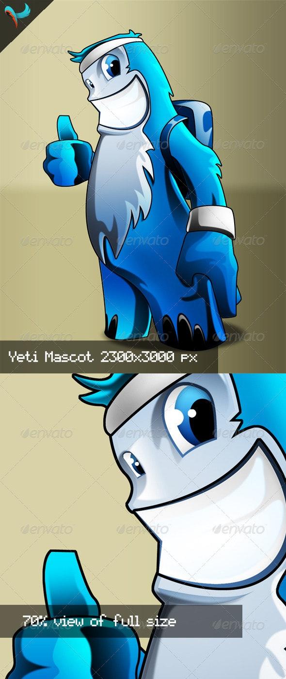 Sport Yeti PSD Mascot - Characters Illustrations
