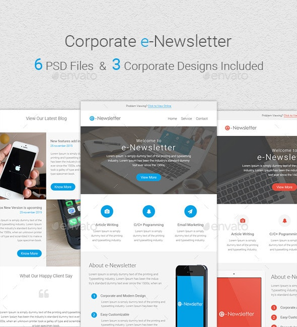 Corporate Newsletter - E-newsletters Web Elements