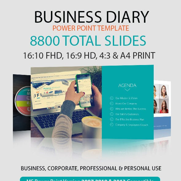 Business Diary Power Point Presentation