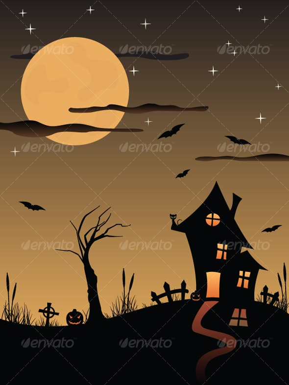 Halloween spooky house - Halloween Seasons/Holidays