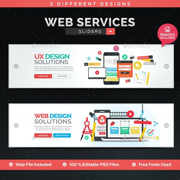 Ecommerce service Sliders - 2 Designs