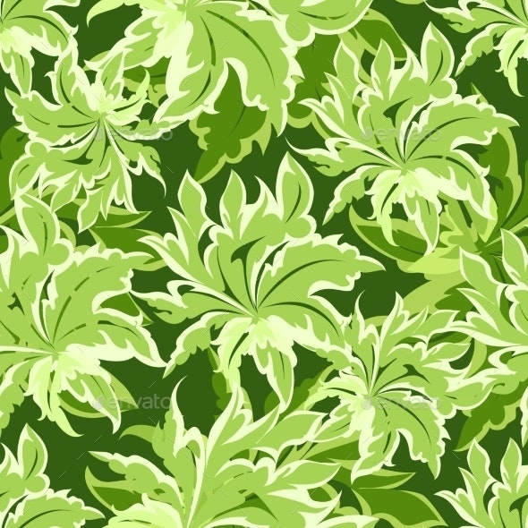 Green Leaves Pattern - Patterns Decorative