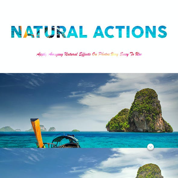 Natural Photoshop Action
