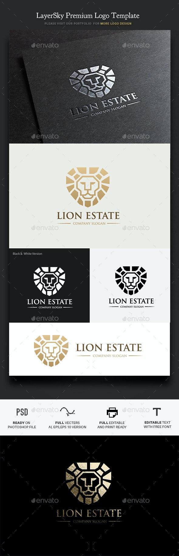 Lion Real Estate - Crests Logo Templates