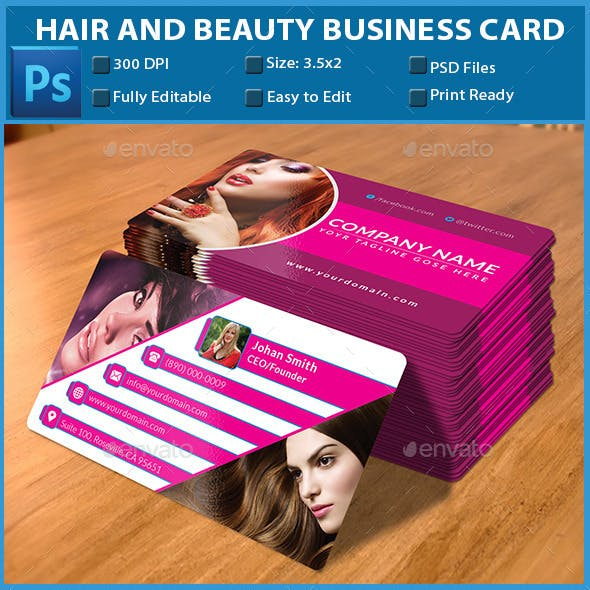 Hair and Beauty Business Card