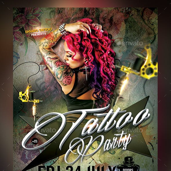Tattoo Party-Tattoo Convention Flyer