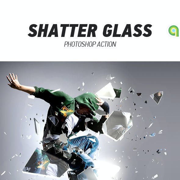 Shatter Glass Photoshop Action