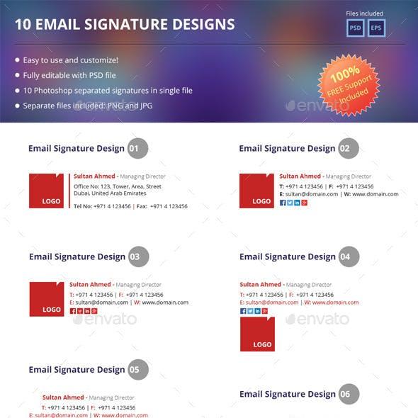 10 Email Signatures