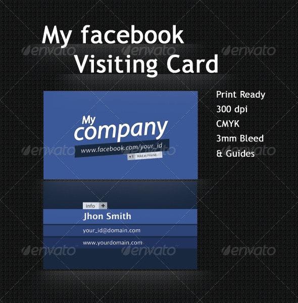 Facebook Profile/Business Card - Creative Business Cards