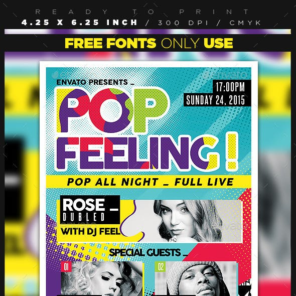 Pop Feeling Music Party