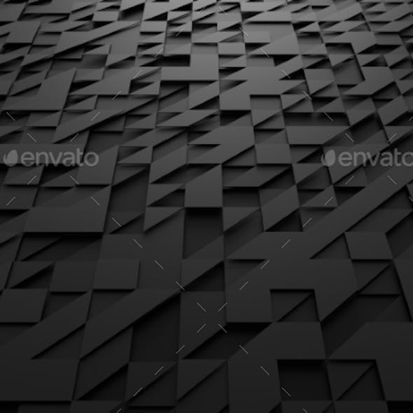 Abstract 3D Rendering Of Surface With Triangles.