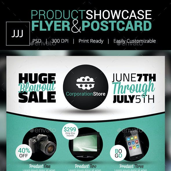 Product Showcase Flyer 13 with Postcard