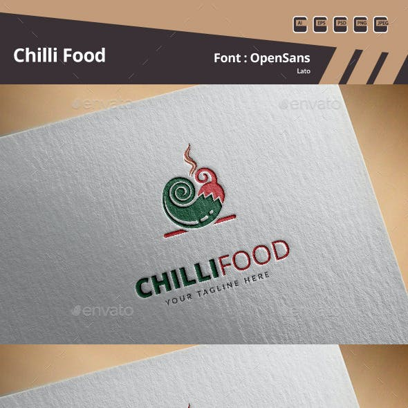 Chilli Food Logo Template