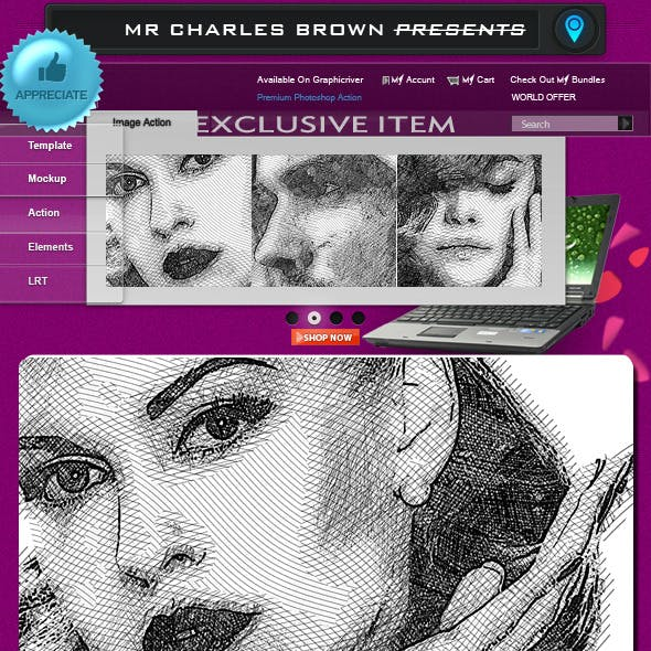 Pure Art Hand Drawing 134 – Crosshatch Super Kit