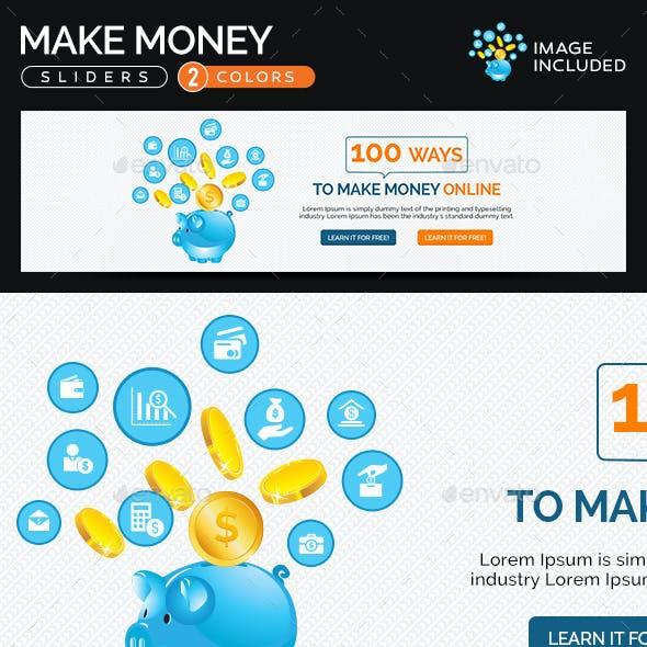 Make Money Sliders - 2 Color Variations