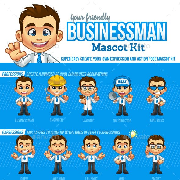 Businessman Mascot Kit