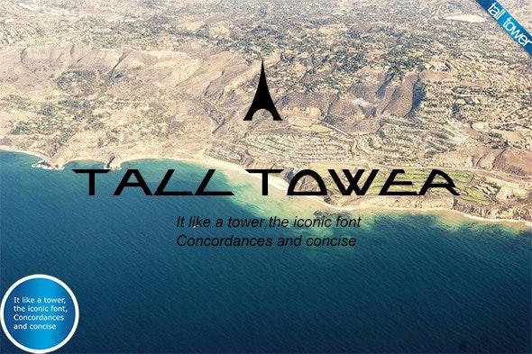 Originality font-Tall tower - Futuristic Decorative