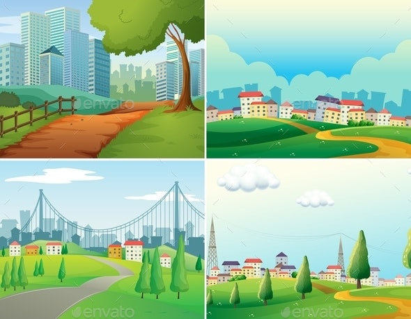 Cities and Parks - Landscapes Nature