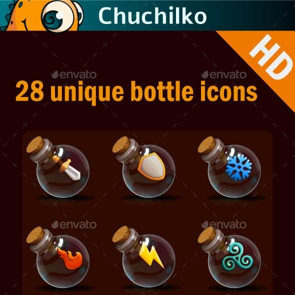 Magic bottles icons