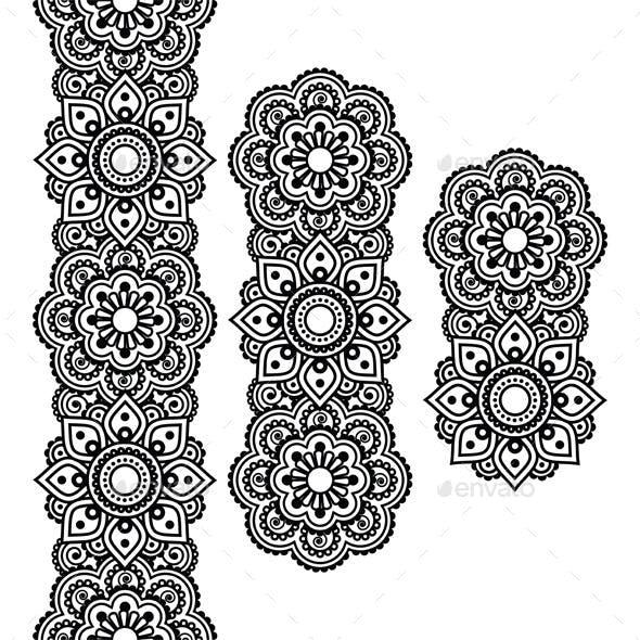 Mehndi Indian Henna Tattoo Pattern