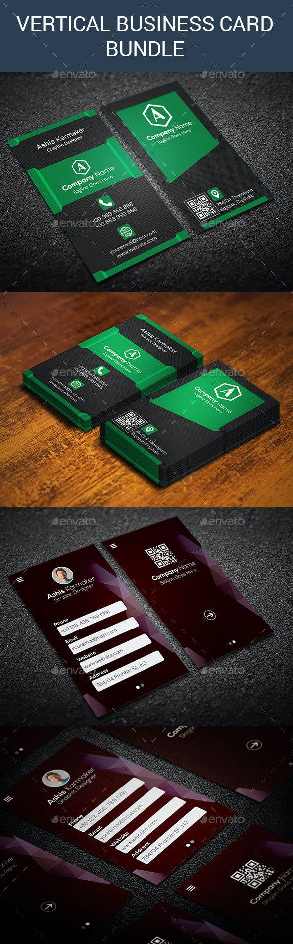 Bundle Vertical Business Card - Creative Business Cards