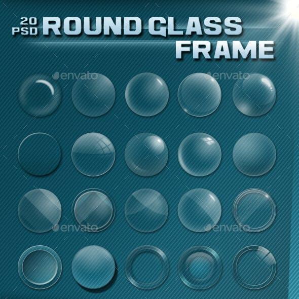 Round glass frame