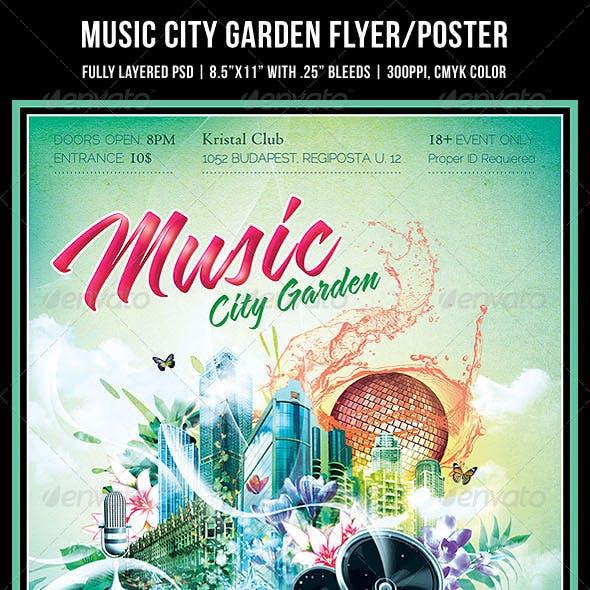 Music City Garden Party Poster/Flyer