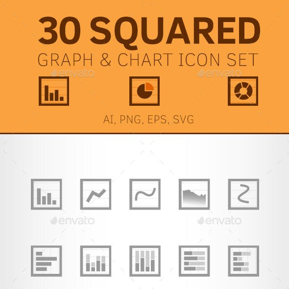 30 Squared Charts and Graph Icons