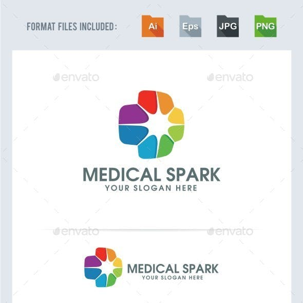 Medical Spark - Logo Template