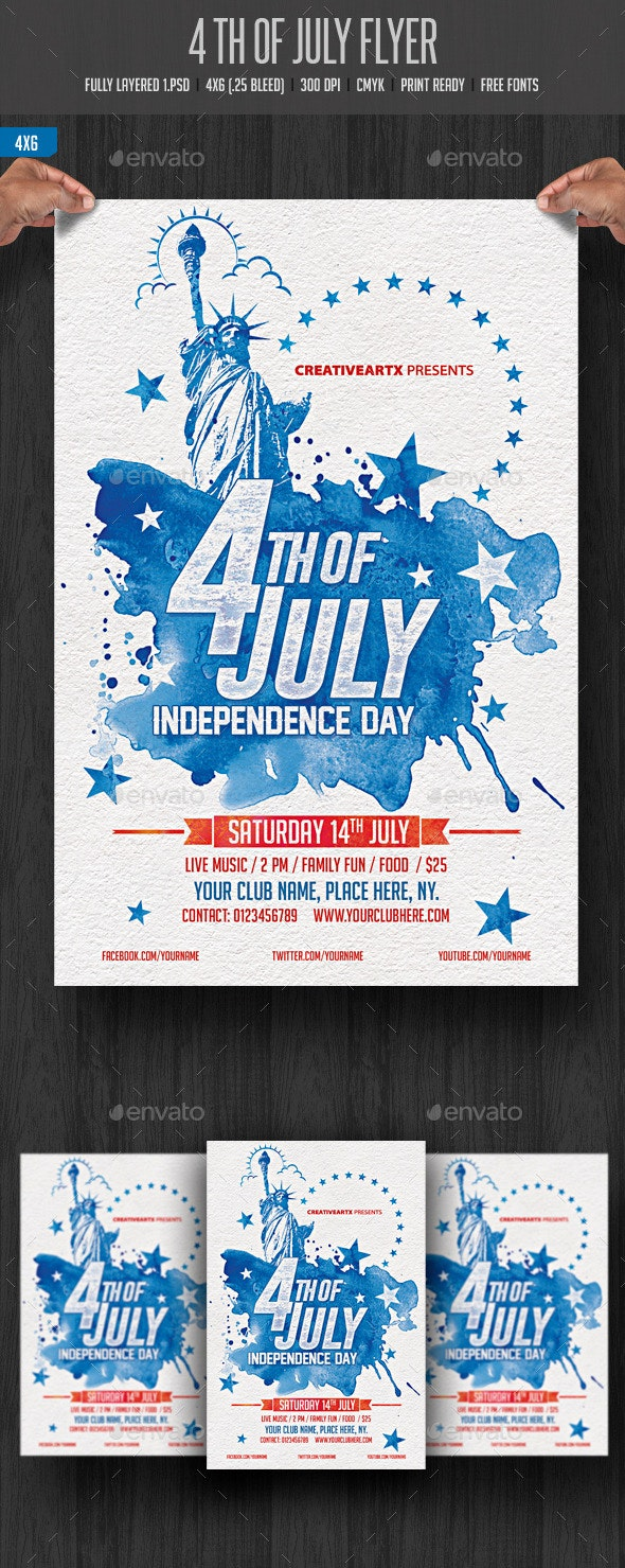 4th of July Flyer - Events Flyers