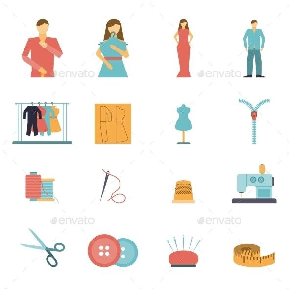 Fashion Designer Tools Icon Set - Miscellaneous Icons