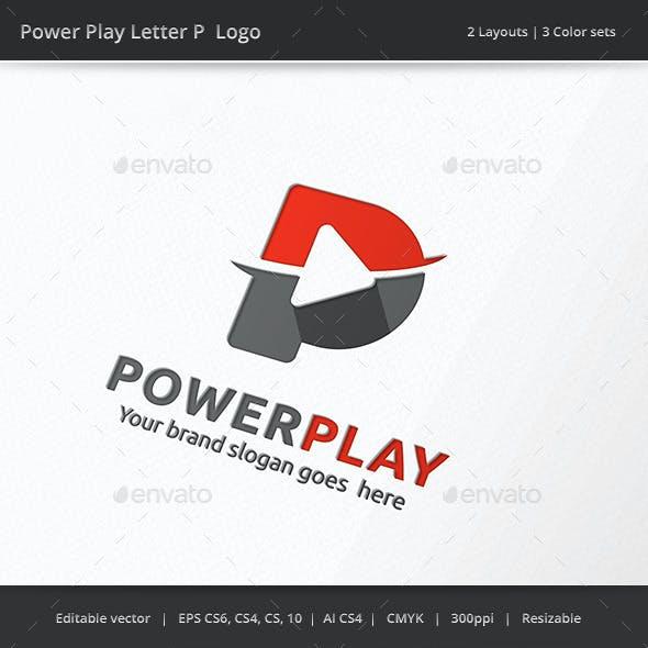 Power Play Letter P Logo