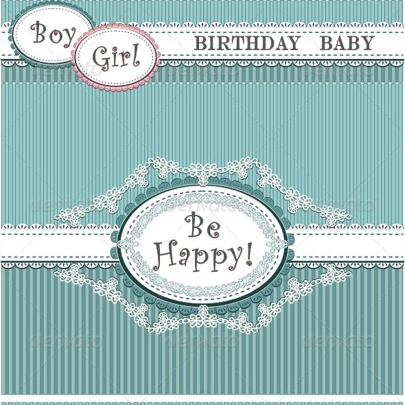 Birthday baby in blue and pink colors