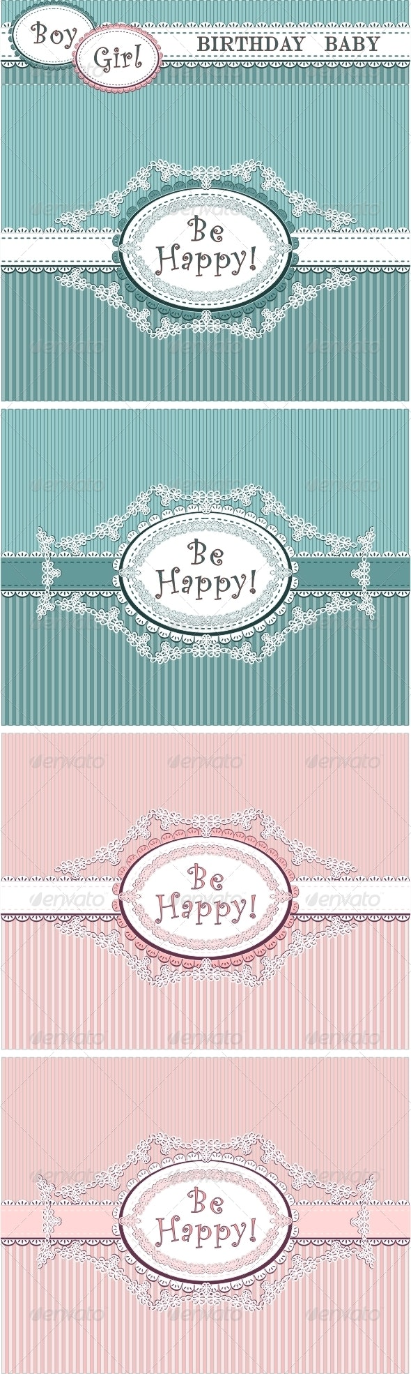 Birthday baby in blue and pink colors  - Birthdays Seasons/Holidays