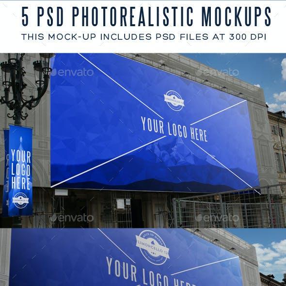 5 Photorealistic Billboard Banner Mock-Ups