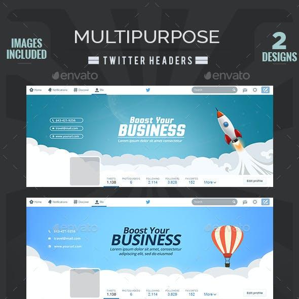 Multipurpose Twitter Headers - 2 Designs