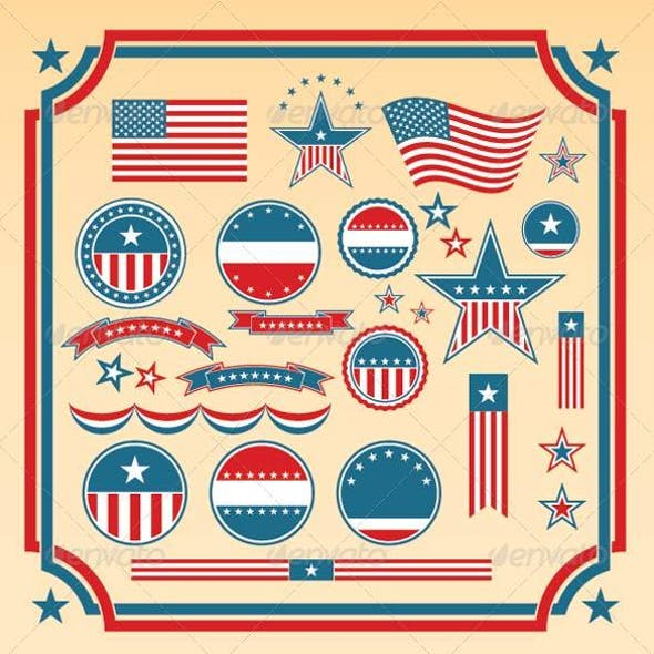 American Patriotic Design Elements