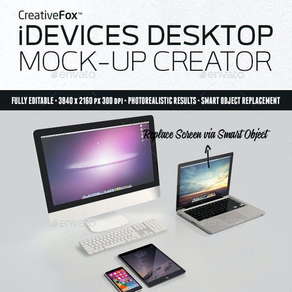 iDevices Desktop Mockup Creator