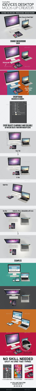 iDevices Desktop Mockup Creator - Multiple Displays