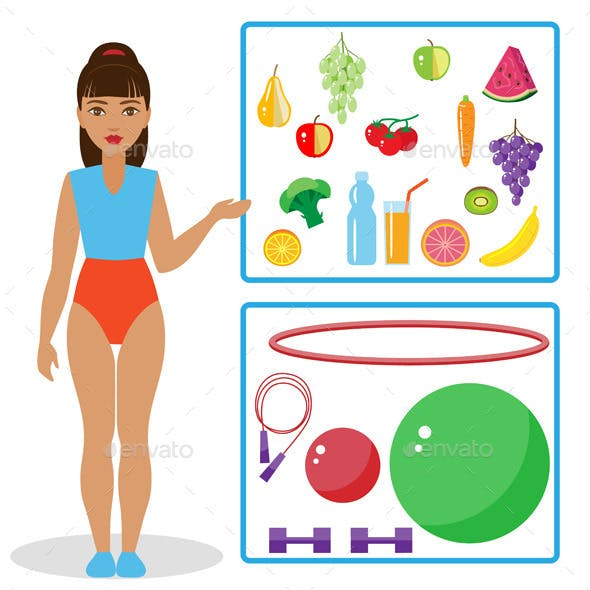 Healthy Diet and Equipment for Fitness