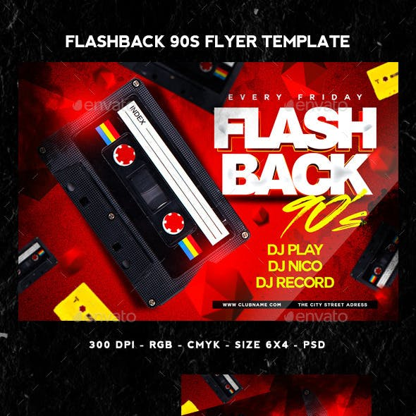 Flashback 90s Flyer