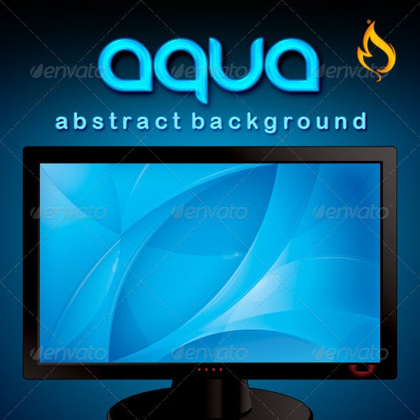 Abstract Background with Monitor – Aqua