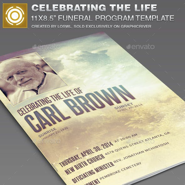 Celebrating the Life Funeral Program Template 014