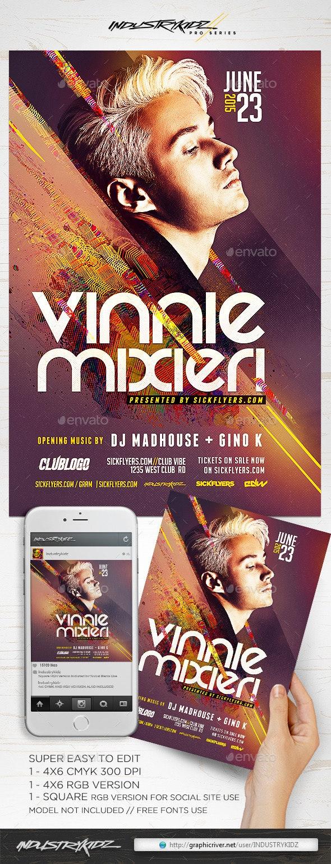 Artist DJ Flyer - Clubs & Parties Events