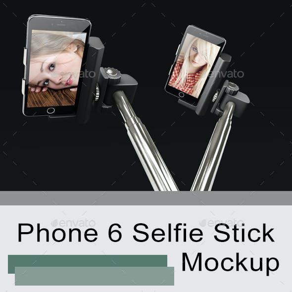 Phone 6 Selfie Stick Mockup 2